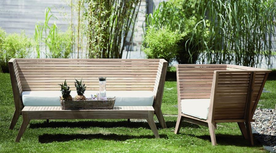 Garten Bank  Holz Gartenbank aus Teak Sitzbank WILLIAM Jan Kurtz
