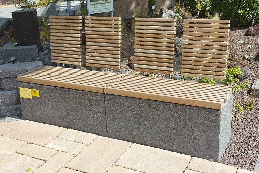 Garten Bank  Garten Bank modern Holz aus Stein Rinn Beton und