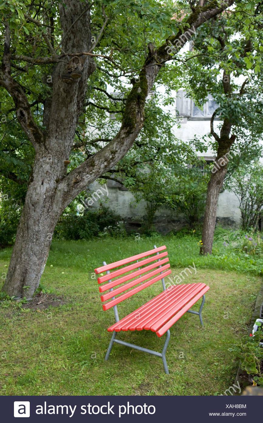 Garten Bank  Bauern Garten Baum Log Entspannung Erholung Garten Garten