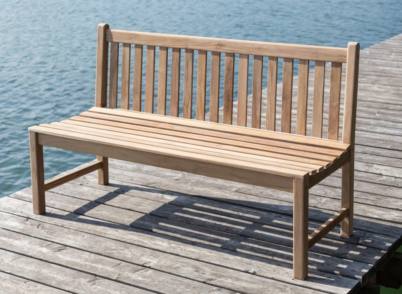 Garten Bank  Gartenbank Picadelly 120 cm in Premium Teak ohne Armlehne