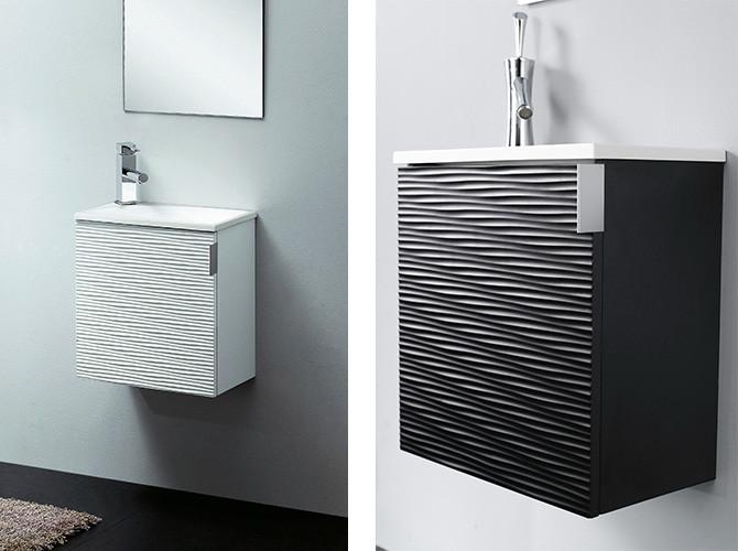Gäste Wc Waschtisch  Badmöbel Set Gäste WC Waschbecken Waschtisch ROMA weiss