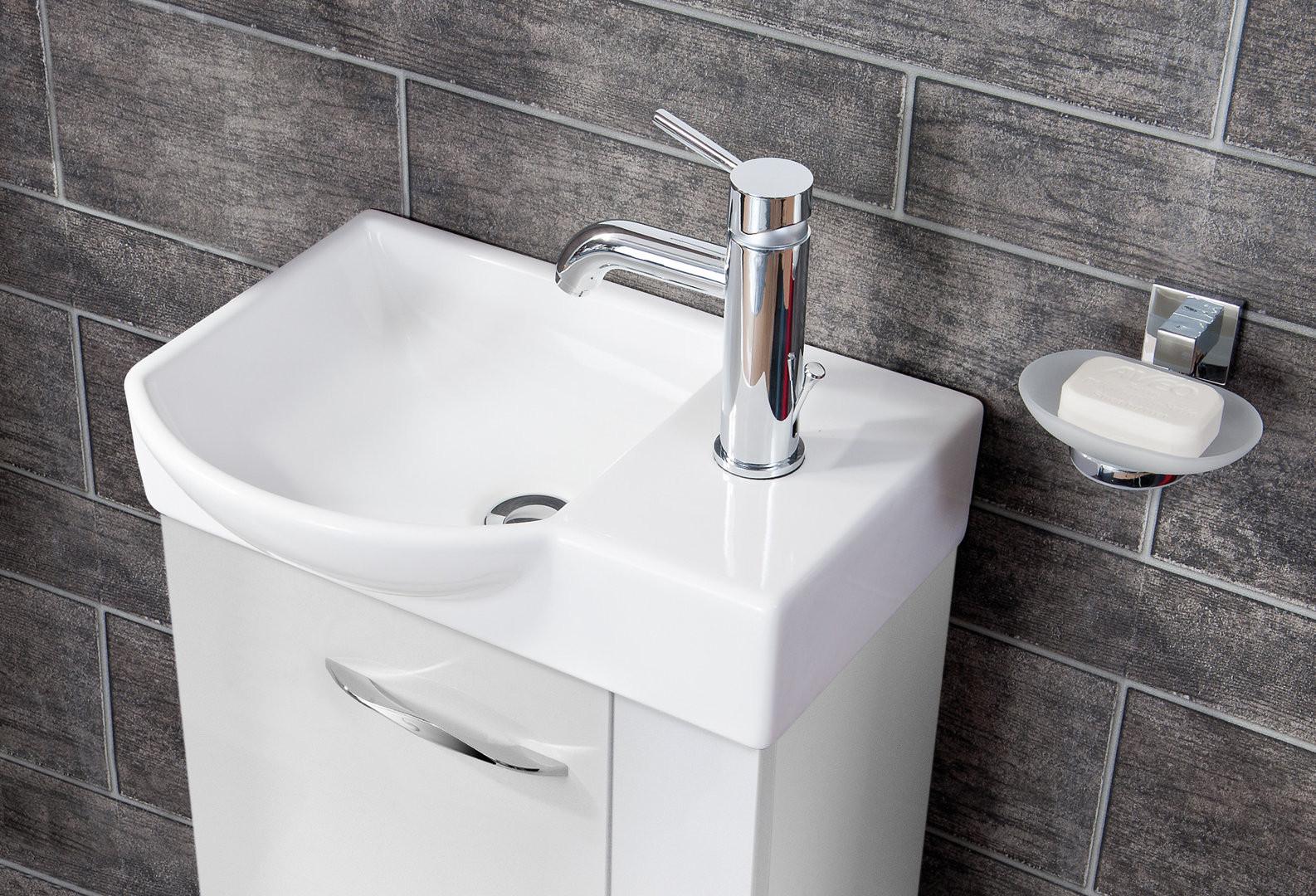 Gäste Wc Waschtisch  Fackelmann Sceno Gäste WC Waschtisch Unterschrank Korpus Weiß