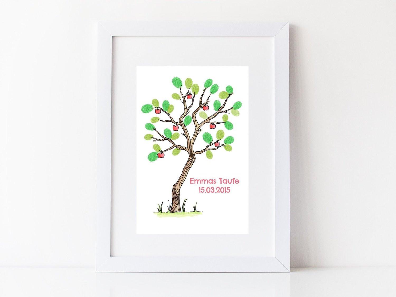 Gästebuch Hochzeit Baum  Wedding Tree Gästebuch Hochzeit Baum Kommunion Taufe