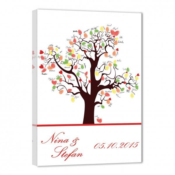 Gästebuch Hochzeit Baum  Fingerabdruck Baum