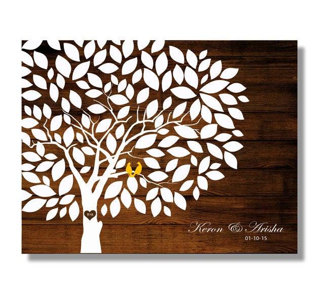 Gästebuch Hochzeit Baum  Hochzeit Gästebuch Holz Baum rustikale Hochzeit Baum zu werden