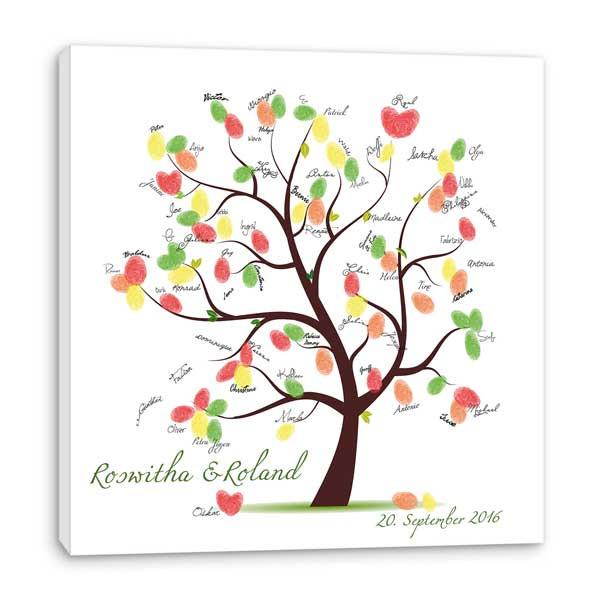 Gästebuch Hochzeit Baum  Fingerabdruck Baum hier kaufen als Hochzeitsspiel