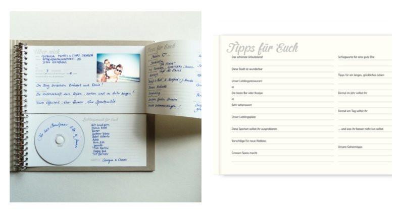 Gästebuch Hochzeit Gestalten Vorlagen  Gästebuch zur Hochzeit Die schönsten Alternativen & Klassiker