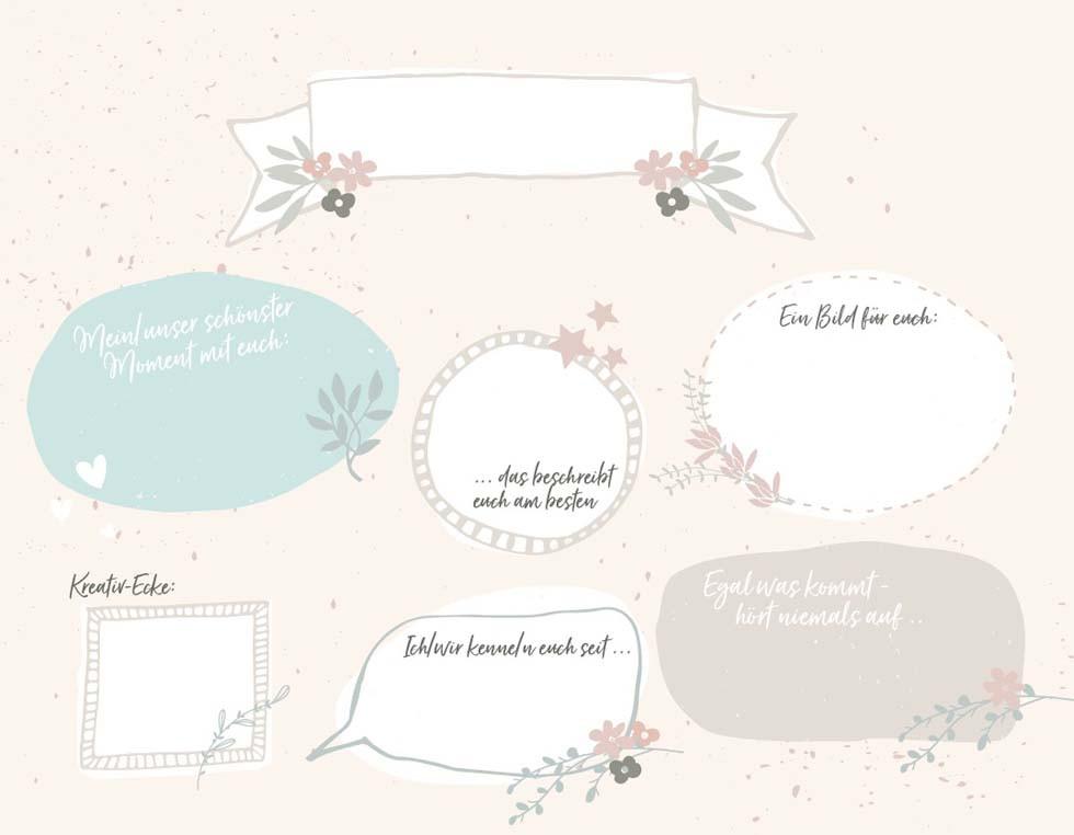 Gästebuch Hochzeit Gestalten Vorlagen  Gästebuch zur Hochzeit selbst gestalten