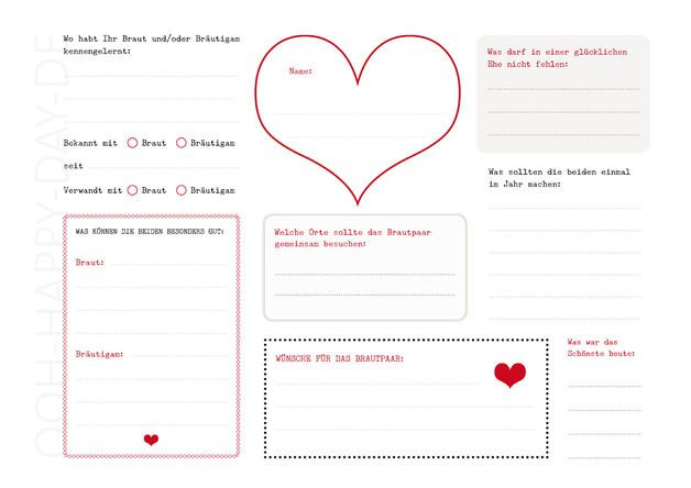 Gästebuch Hochzeit Gestalten Vorlagen  Hochzeitsgästebuch DIY Gästebuch Hochzeit mit 3 PDF
