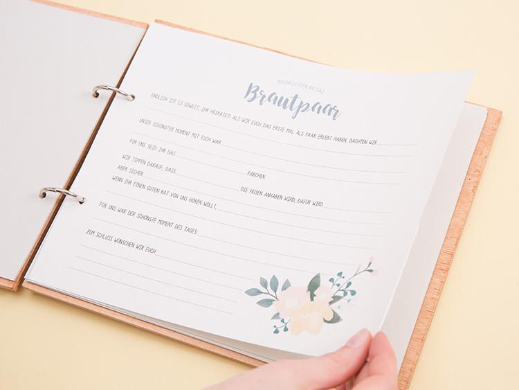 Gästebuch Hochzeit Gestalten Vorlagen  Gästebuch aus Holz selber machen