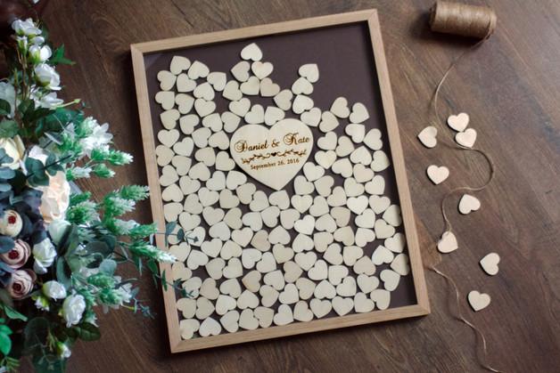 Gästebuch Hochzeit Herzen  Hochzeitsgästebuch Personalisierte Hochzeit Gästebuch