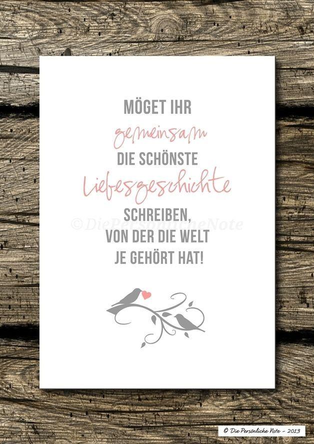 Gästebuch Sprüche Hochzeit  Glückwunsch zur Hochzeit
