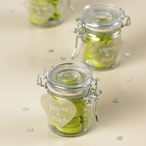 Gastgeschenke Für Hochzeit  Gläschen mit Bügelverschluss 4 St Deko Glas für