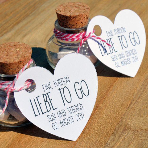 Gastgeschenke Für Hochzeit  Hochzeit Brause Herzen Gastgeschenk Korkenglas