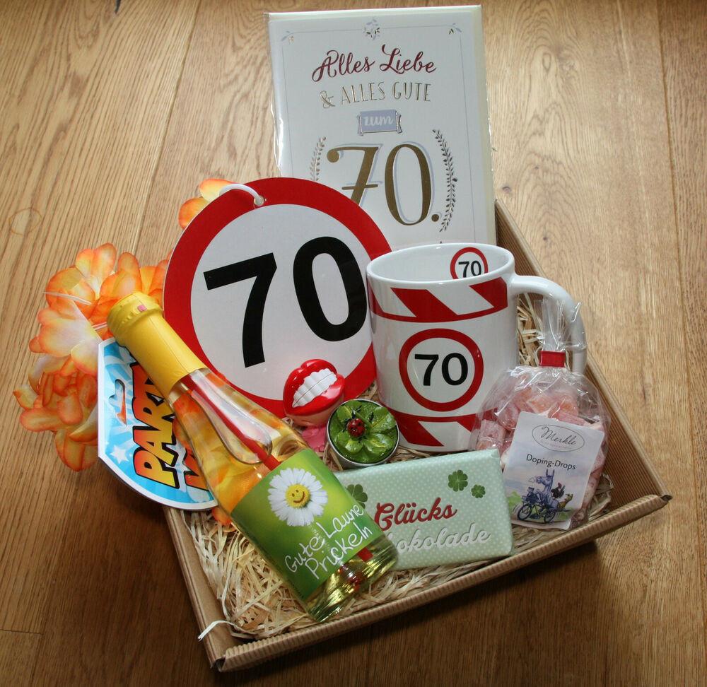 Geburtstag Geschenke Frau  70 Geburtstagsgeschenk Geschenkkorb Geschenke Ideen 70er