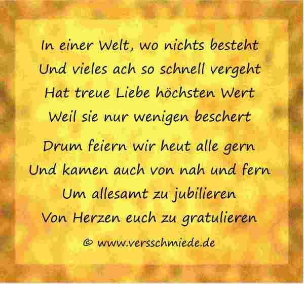 Gedicht Goldene Hochzeit Loriot  Goldhochzeit Gedichte Sprüche Glückwünsche VersSchmiede