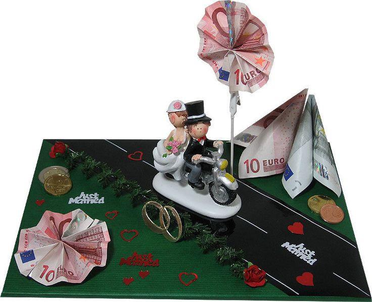 Geld Geschenk Hochzeit  lustige Geldgeschenke zur Hochzeit Brautpaar auf Motorrad