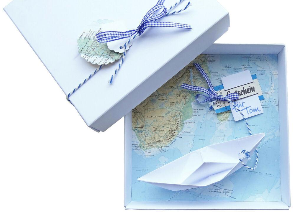 Geldgeschenk Hochzeit Reise  Geldgeschenk Verpackung Reise Gutschein Schiff Geschenk