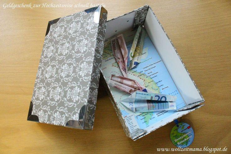 Geldgeschenk Hochzeit Reise  Geldgeschenk zur Hochzeit Hochzeitsreise schnell selbst