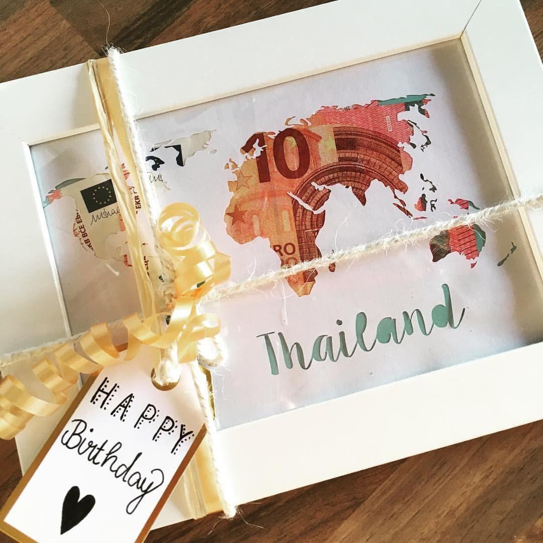 Geldgeschenk Hochzeit Reise  Geldgeschenk kreativ verpacken Geburtstagsgeschenk Reise
