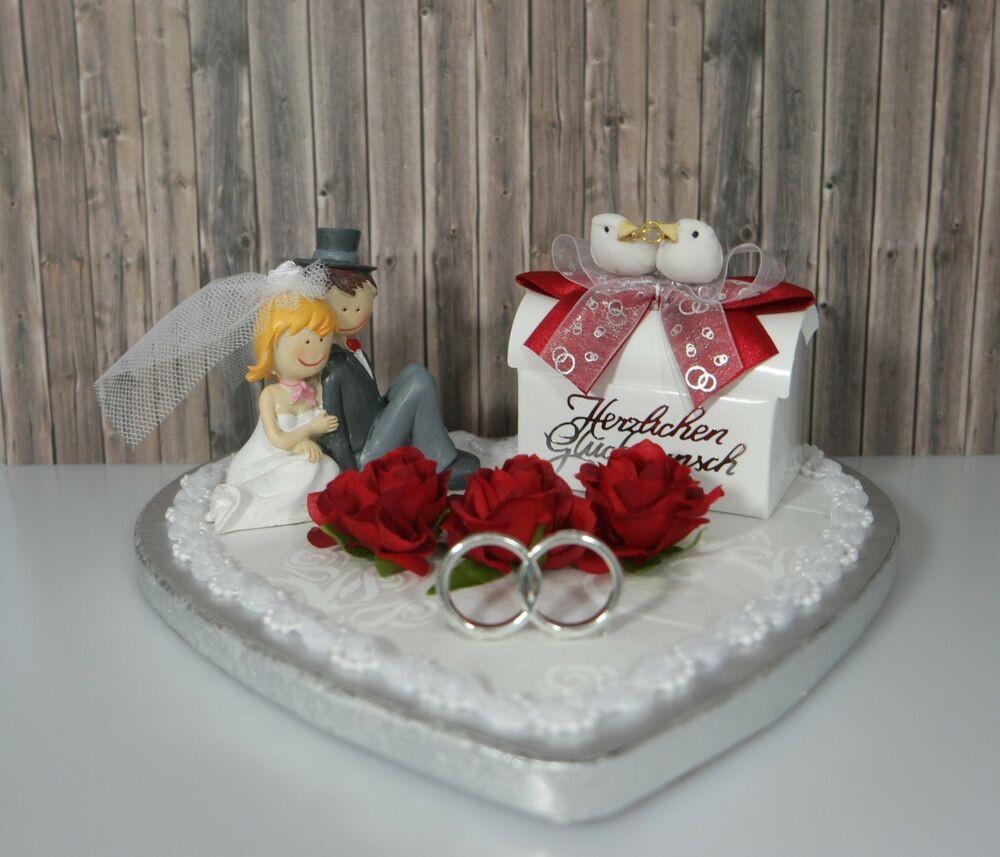 Geldgeschenk Hochzeit  Geldgeschenk Herz Brautpaar Deko rot Hochzeit