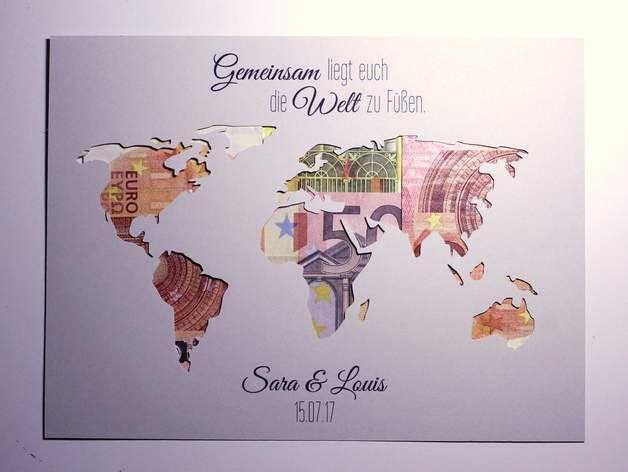 Geldgeschenk Hochzeit Weltkarte  Die besten 25 Geldgeschenk urlaub Ideen auf Pinterest