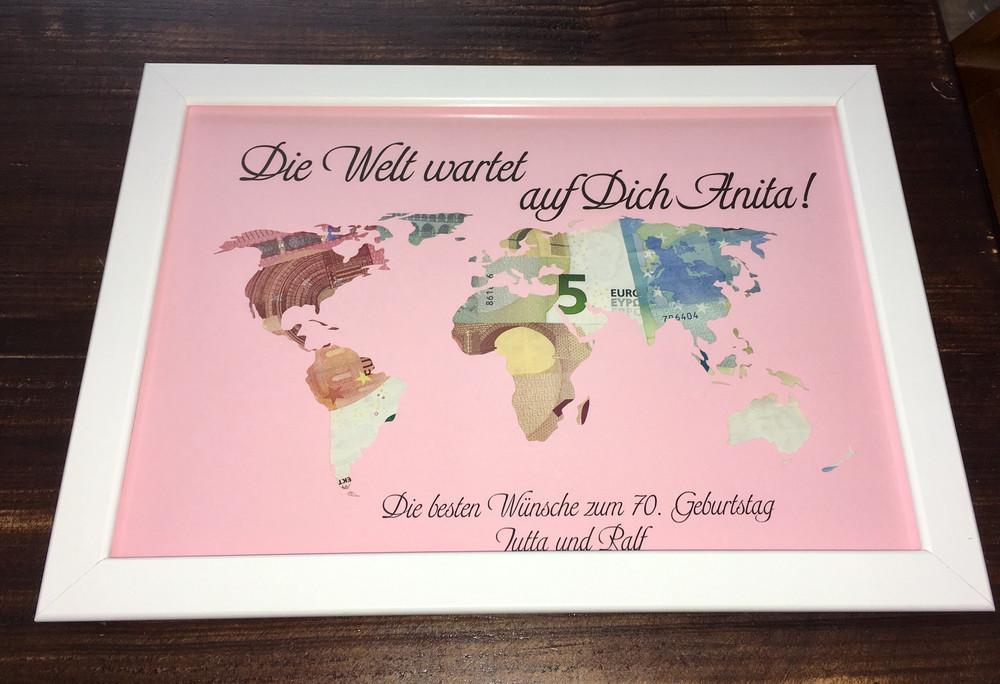 """Geldgeschenk Hochzeit Weltkarte  Ringkissen Geldgeschenk Hochzeit """"Weltkarte"""" inkl"""
