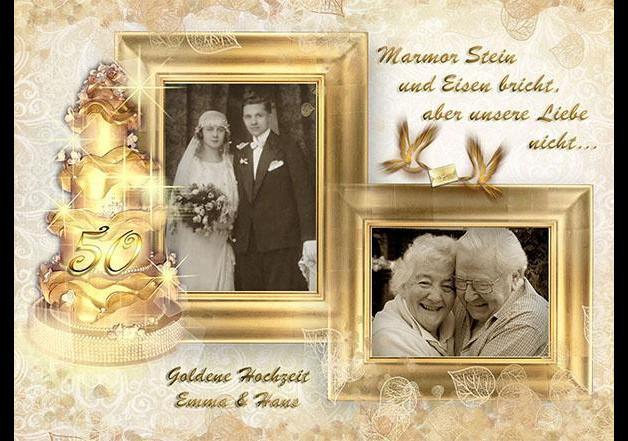 Geschenk Zur Goldenen Hochzeit  Weiteres Geschenk zur Goldenen Hochzeit Leinwand