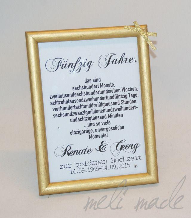 Geschenk Zur Goldenen Hochzeit  Die besten 25 Geschenke zur goldenen hochzeit Ideen auf