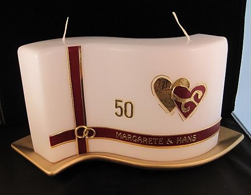 Geschenk Zur Goldenen Hochzeit  Helgas Kerzen und Kartenzauber Ein besonderes Geschenk