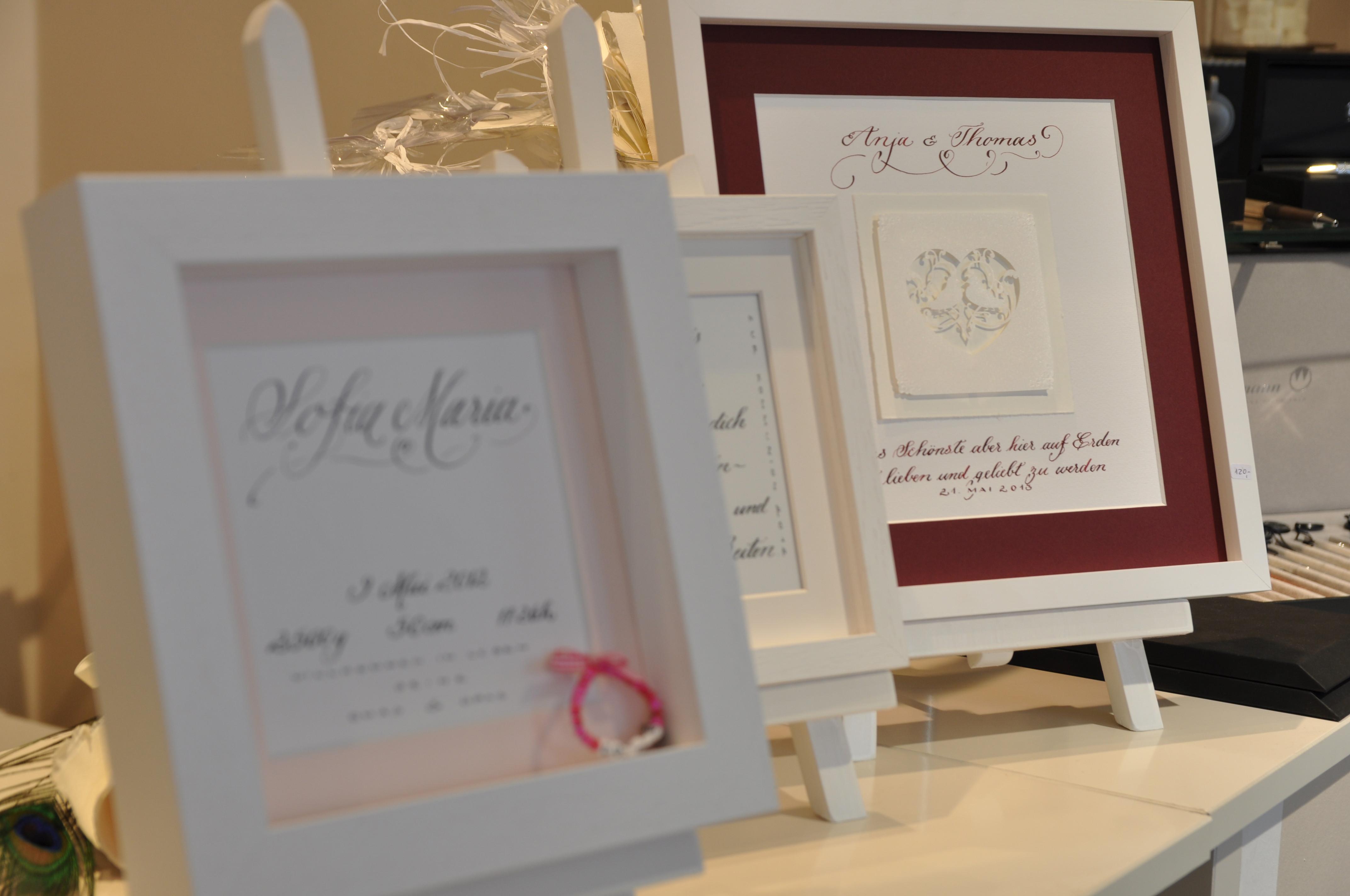 Geschenk Zur Hochzeit  Feder & Tinte Geschenk Hochzeit Kalligraphie