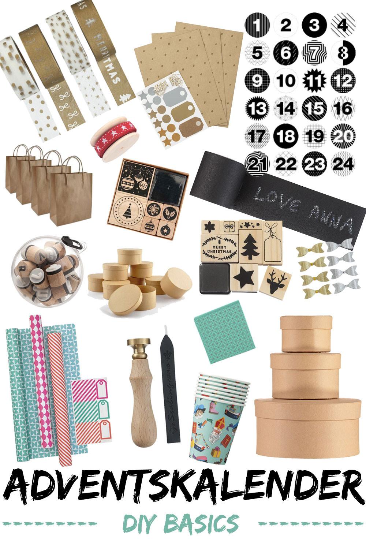 Geschenke Adventskalender  Adventskalender basteln DIY Basics Material und Tipps