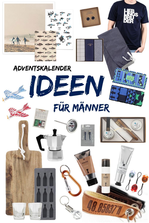 Geschenke Adventskalender  Adventskalender Ideen für Männer 24 kleine Geschenke