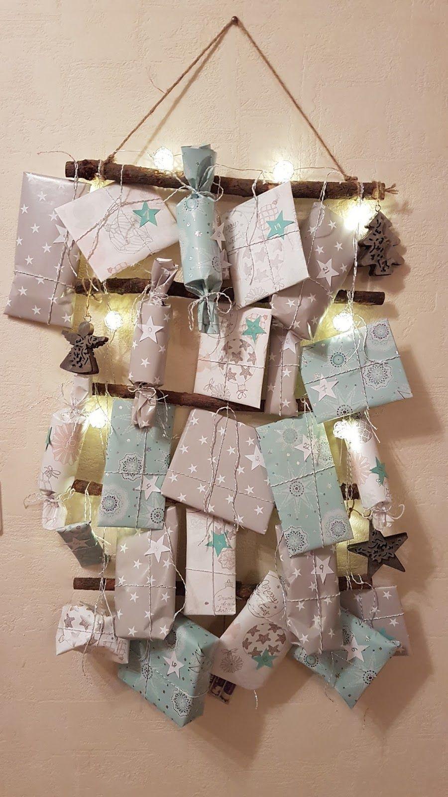 Geschenke Adventskalender  DIY Weihnachten Adventskalender selbstgemacht basteln