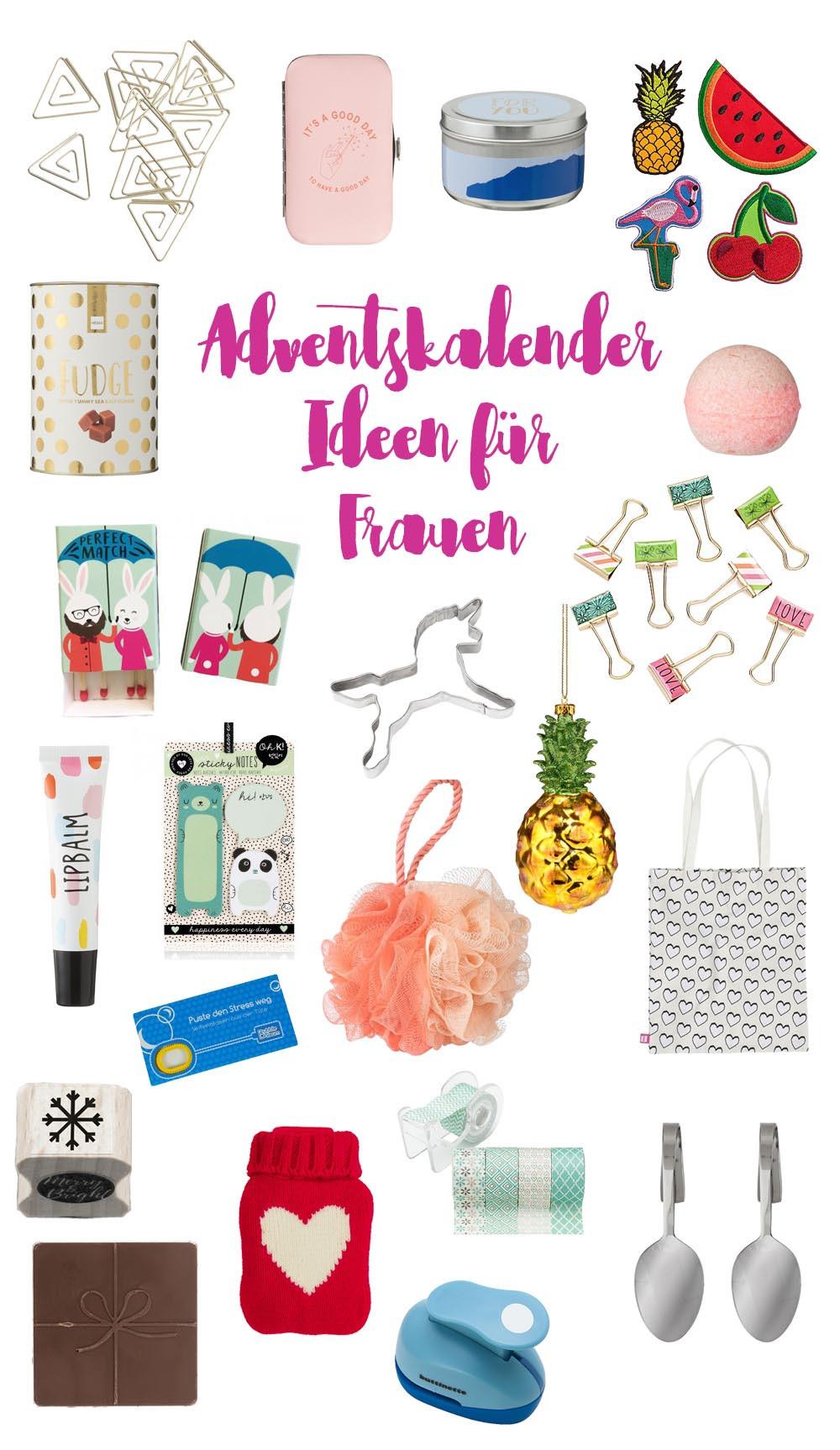 Geschenke Adventskalender  Adventskalender Geschenkideen für Frauen