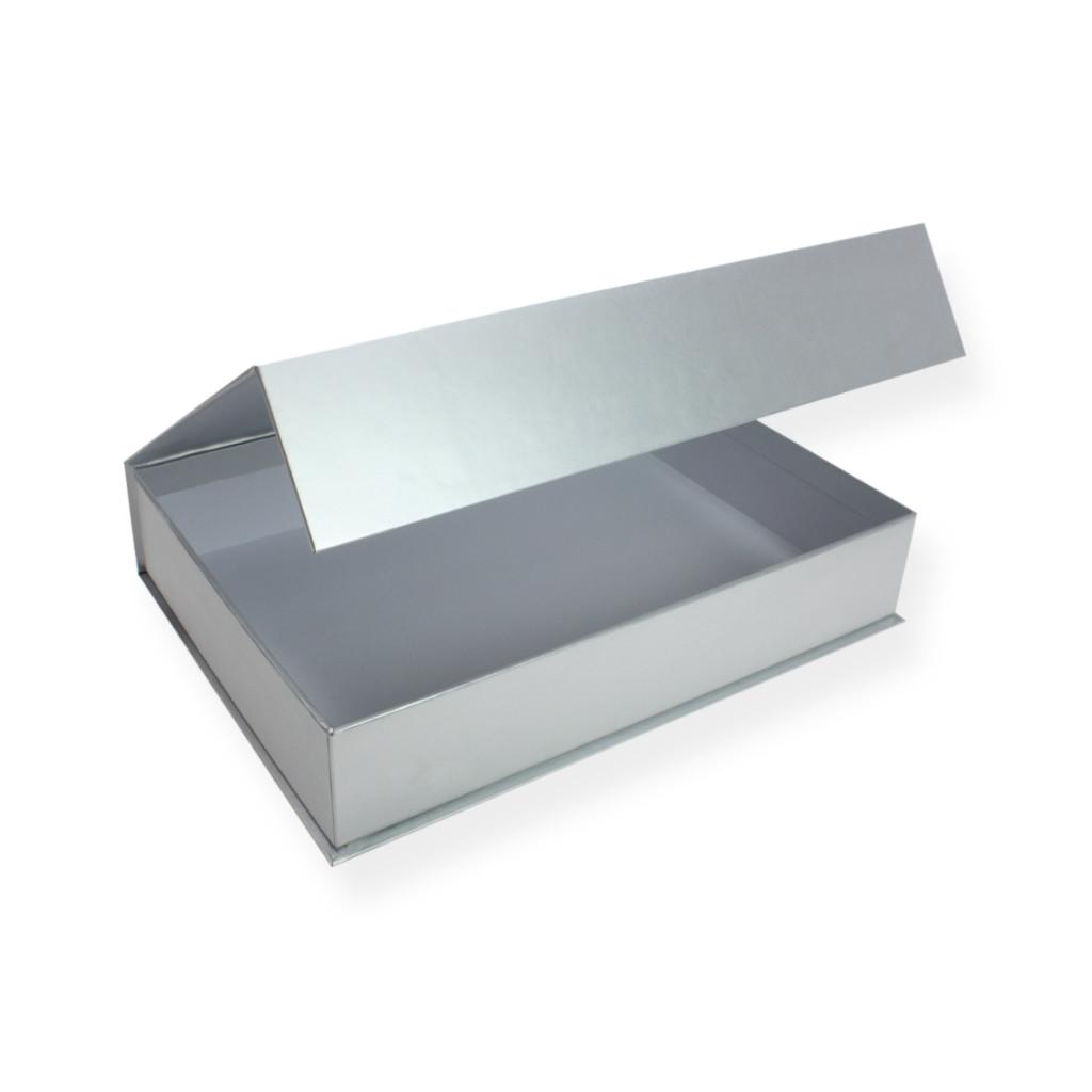 Geschenke Box  Magnet Geschenkbox A5 C5 Silber