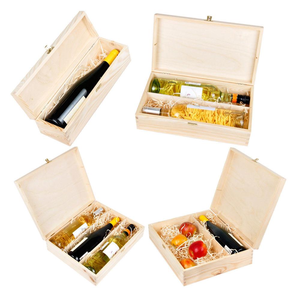 Geschenke Box  Weinflaschen Geschenkbox mit Deckel und Schloss Wein