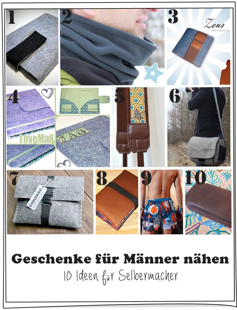 Geschenke Fuer Maenner  Geschenke für Männer nähen 10 Ideen für Selbermacher