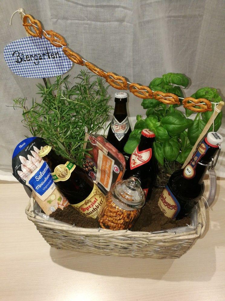 Geschenke Fuer Maenner  Biergarten DIY Geschenk für Männer zum Geburtstag