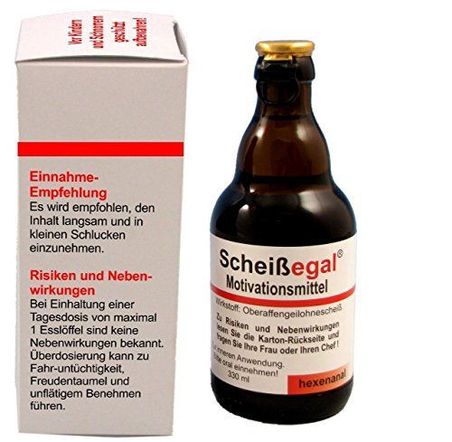 """Geschenke Fuer Maenner  Sale Preis Witzige Bierflasche """"Scheißegal"""" Bier 0 33 l"""