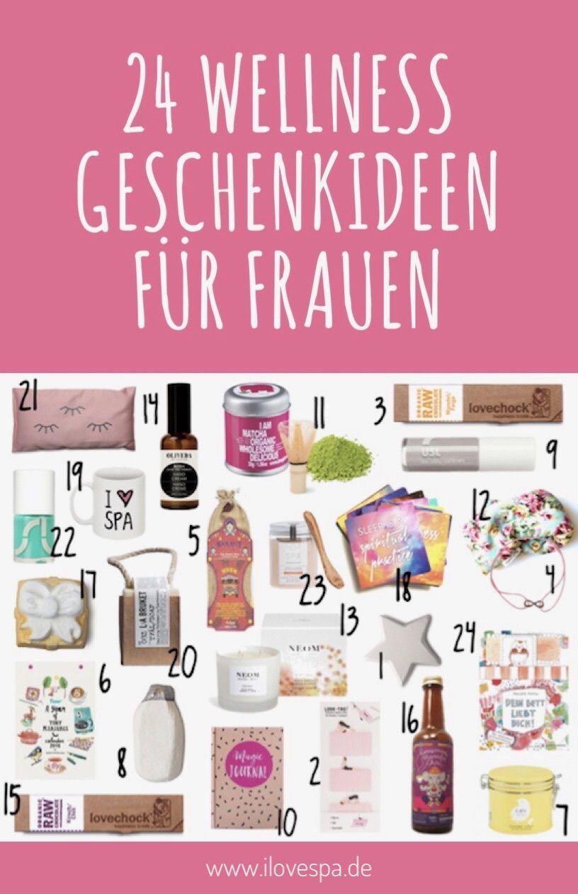 Geschenke Für Gestresste Frauen  Wellness Adventskalender 24 entspannende Geschenke