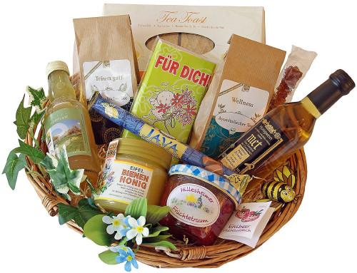 Geschenke Für Senioren  Geschenkkorb für Senioren Geschenke in Korb & Kiste
