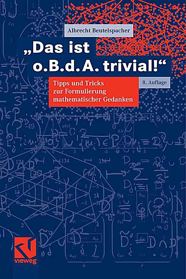Geschenke Für Studienanfänger  Mathematik für Stu nanfänger Das ist o B d A