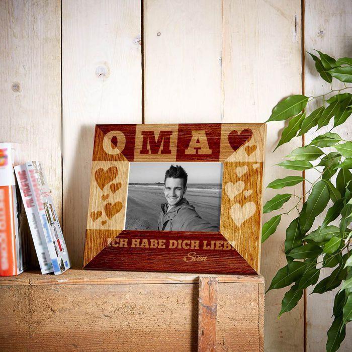 Geschenke Für Werdende Großeltern  Personalisierter Bilderrahmen für Oma