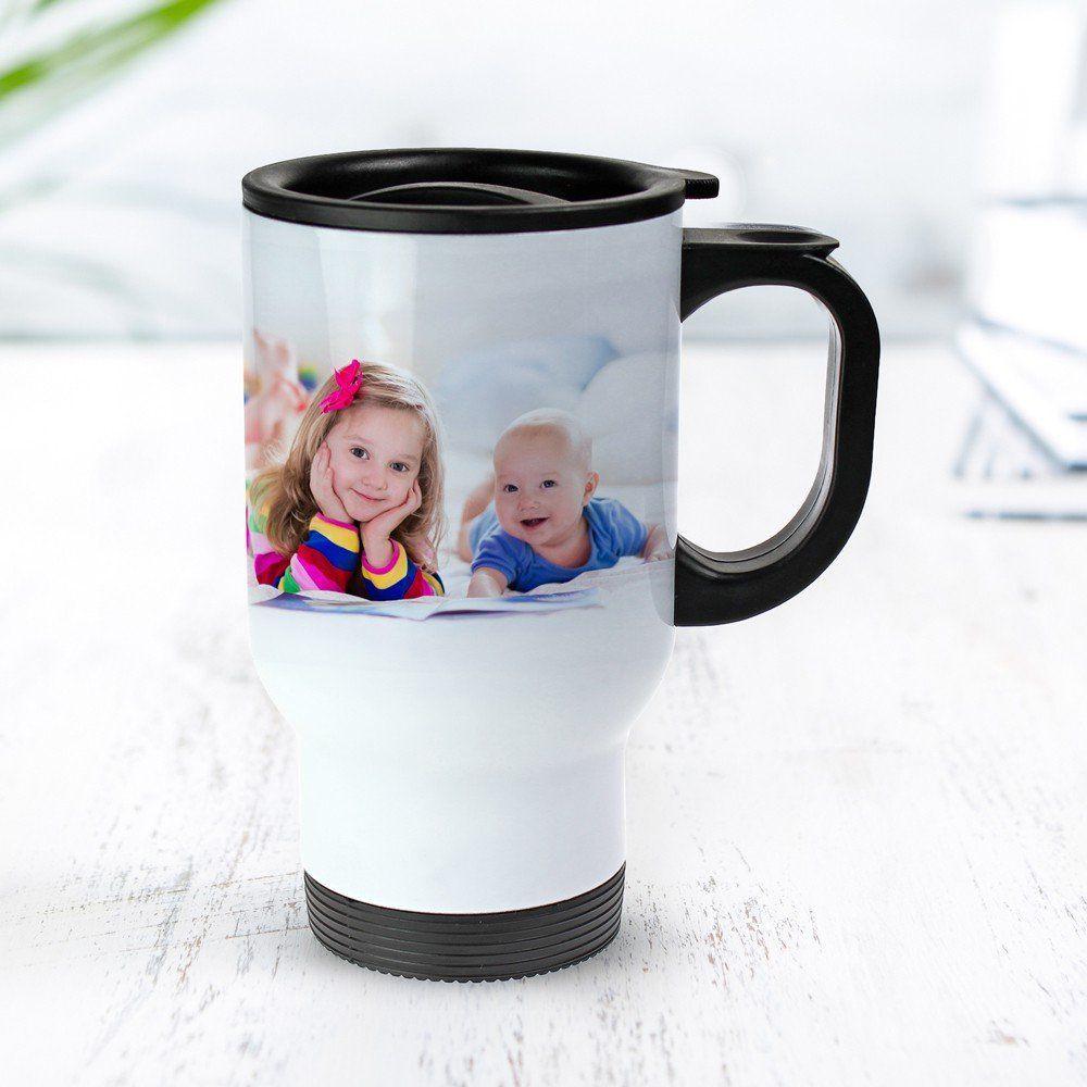 Geschenke Für Werdende Großeltern  Weißer Thermobecher bedruckt Foto Tasse personalisiert