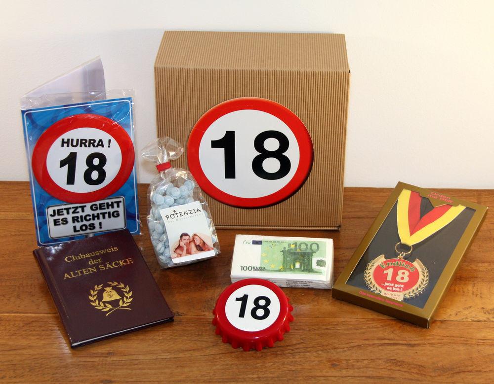 Geschenke Geburtstag Mann  18 Geburtstag Geschenk Box Geschenkideen