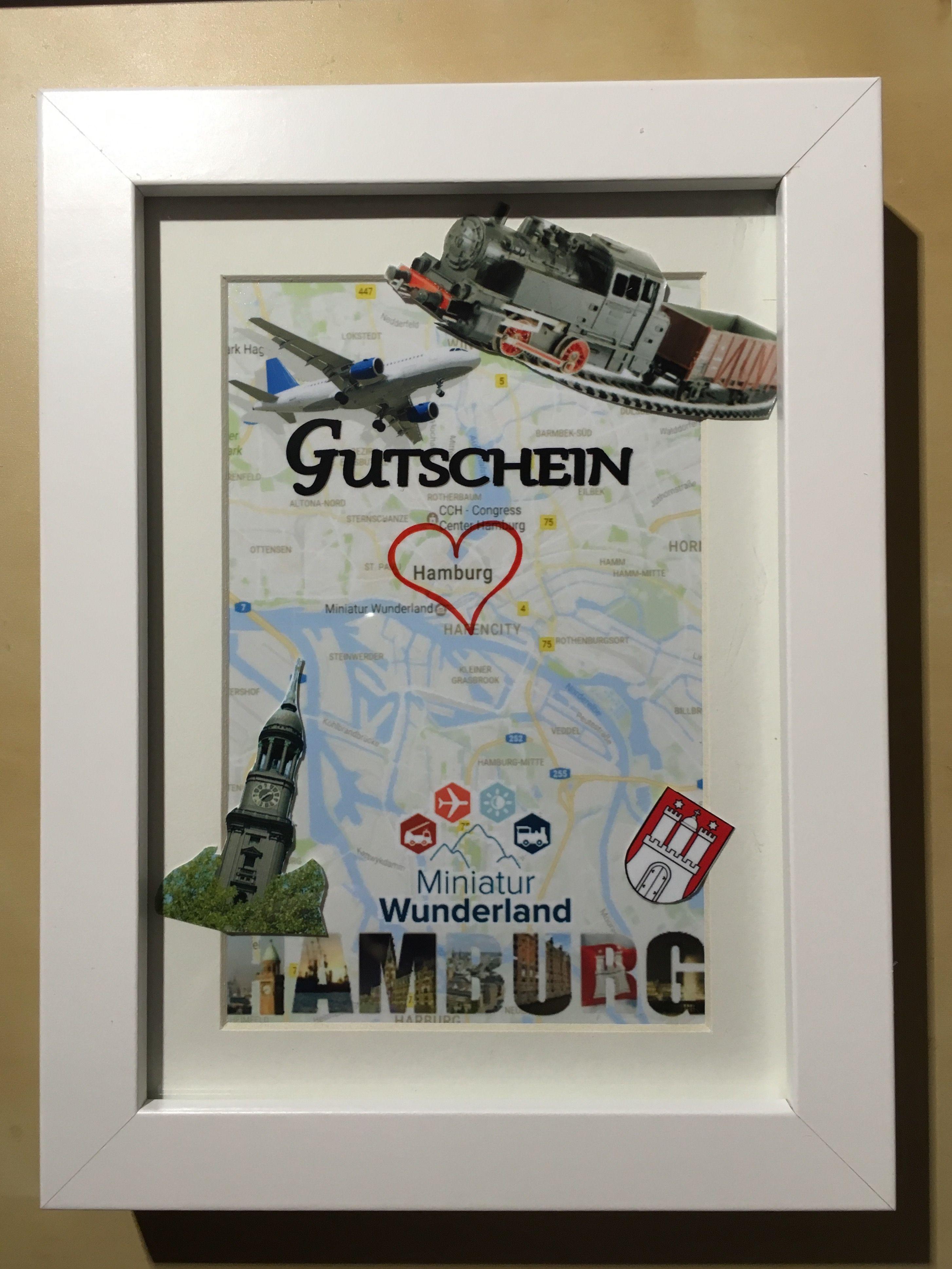 Geschenke Hamburg  Gutschein Städtetrip Hamburg Basteln