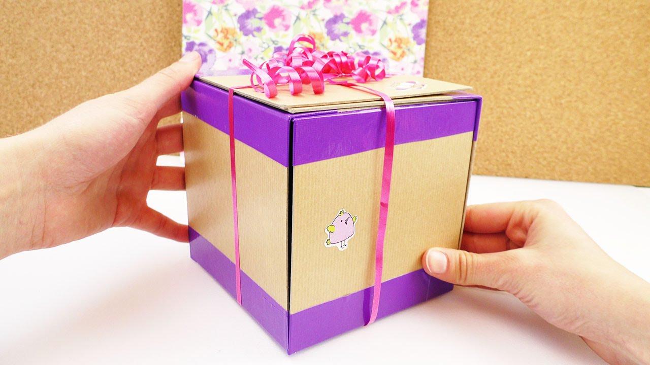 Geschenke Malen  Geschenkbox selber machen