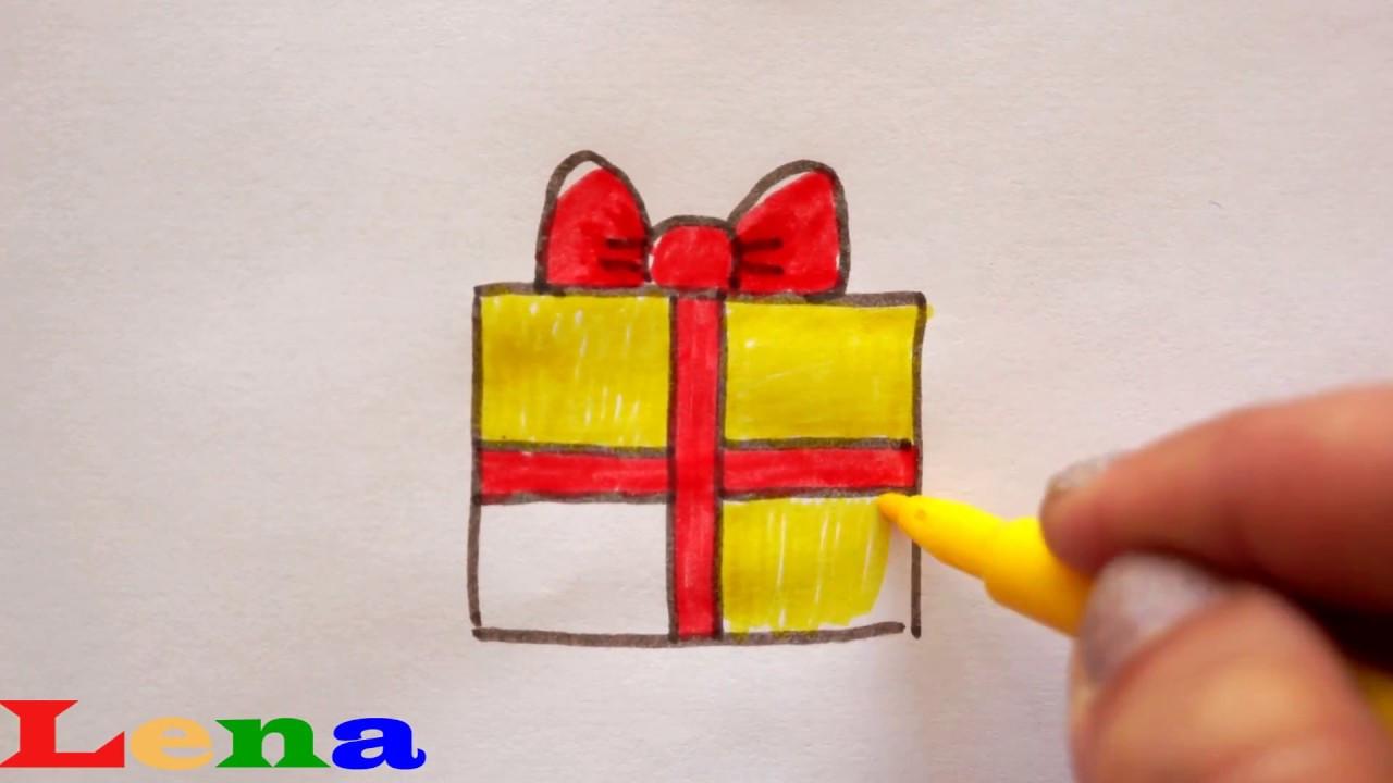 Geschenke Malen  Geschenk zeichnen 🎁 Malen für Kinder how to draw a t