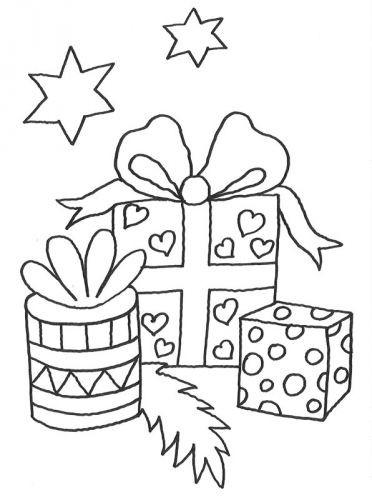 Geschenke Malen  Kostenlose Malvorlage Weihnachten Geschenke zum Ausmalen